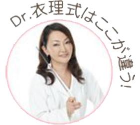 Dr.衣理式はここが違う!